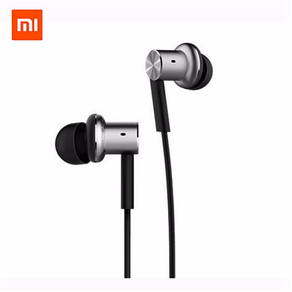 Xiaomi Hybrid Earphone Mi In-Ear Circle Iron Wired Control Piston Dual Driver HiFi Earpiece New Original for Mobile Phones original xiaomi xiomi mi hybrid earphone 1more design in ear multi unit piston headset hifi for smart mobile phone fon de ouvido