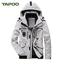 TAPOO 2018 Winter Parka Jacket Men Fashion Hooded Collar Thick Warm Winter Coat Men Parka Homme