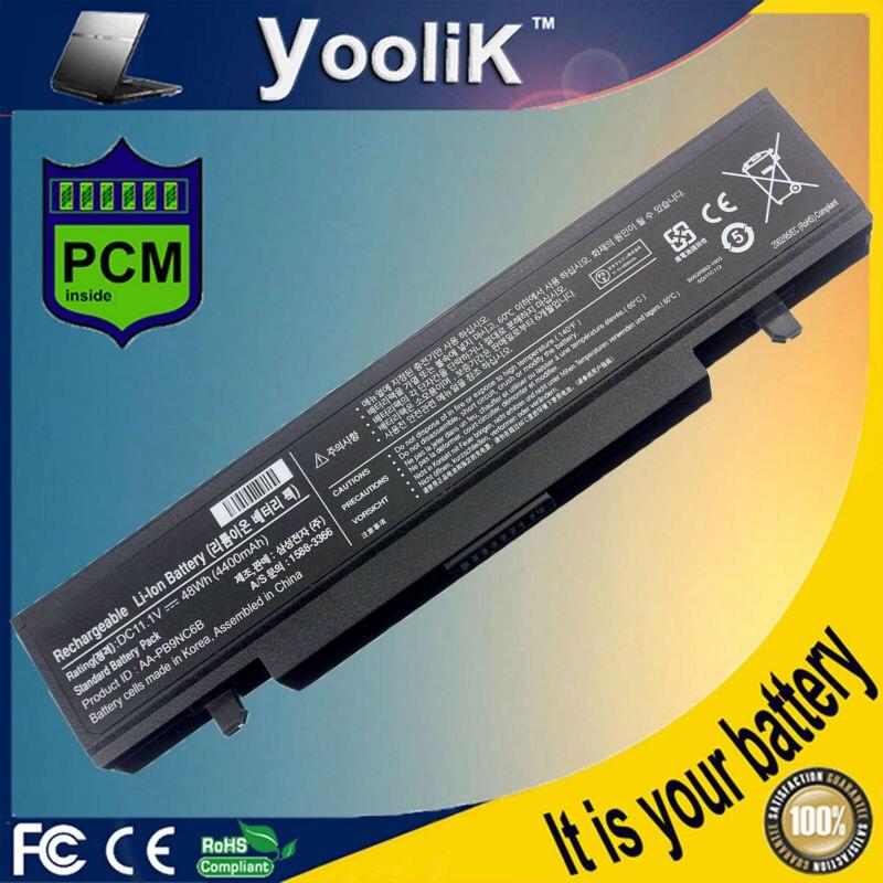 Batería del ordenador portátil para Samsung R580 R540 R519 R525 R430 R530 RV511 RV411 RV508 R528 AA-PB9NC6B AA-PB9NS6B PB9NC6B aa pb9ns6b