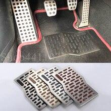 Car Aluminum Pad Plate Pedal Foot Rest Carpet floor mats For Mercedes Benz GLA X156 GLK X204 GL X164 X166 ML W163 W164 W166 W251