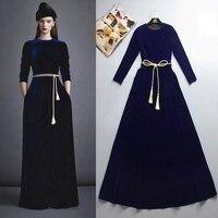 Elegant Muslim Abaya Velvet Maxi Dress Tunic Long Robe Gowns Kimono Jubah Ramadan Arabic Turkish Thobe