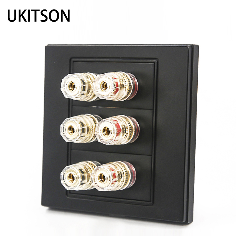 US $18.73 35% OFF|Quality Multimedia Speaker Wire Connector Wall Outlet on