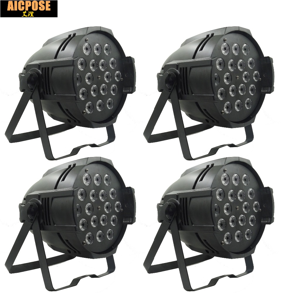 4pcs/lots 18*12w Lights Power in and out LED Par 18x12W RGBW 4in1 LED Par Can Par 64 led spotlight dj projector stage light 4pcs lot aluminum led par 18x12w rgbw 4in1 led par can par 64 led spotlight dj projector wash ligh with power in power out