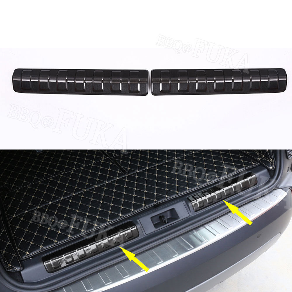 2pcs/set Stainless Car Rear Bumper Protector Sill Trunk Plate Fit for Land Rover Discovery 5 LR5 2017 2018 L462 Car Styling