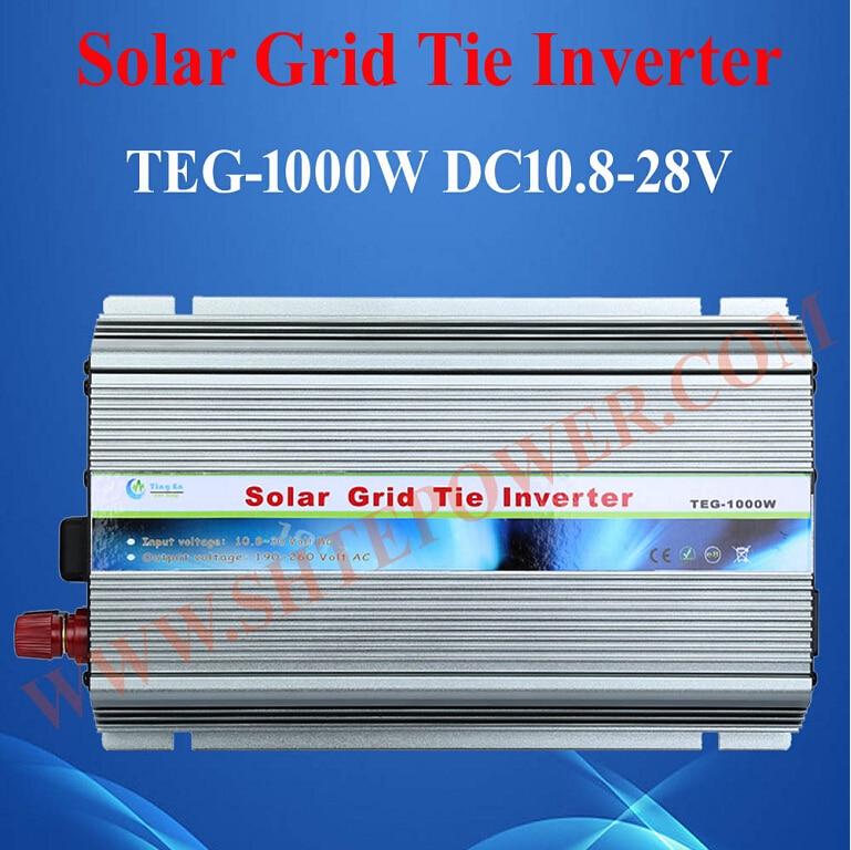 1KW High Quality 12V 24V DC to 110V 120V 220V 230V AC On Grid Solar Inverter 1000W With MPPT Function grid on tie inverter 1000w 12v 24v solar panel system dc output 90 130v 190 260v with mppt function