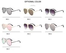 Rose gold pink sunglasses mirror metal sun glasses brand designer aviator sunglass women men shades flat top fashion eyeglasses
