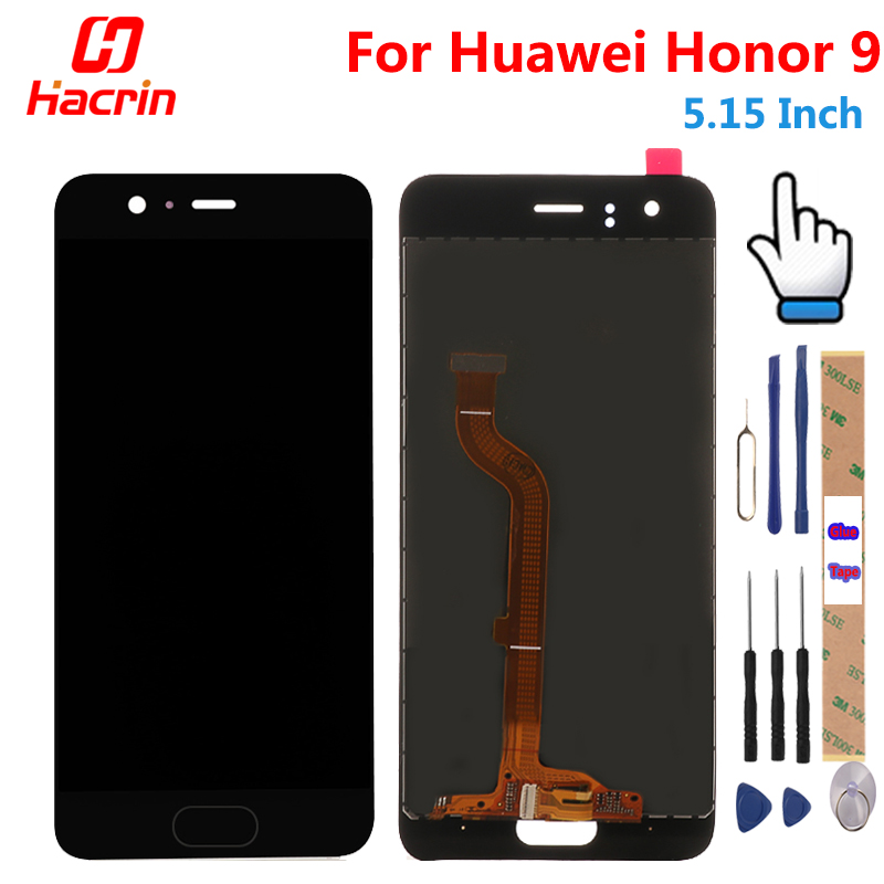Hacrin Huawei Honor 9 LCD Display + Touch Screen Digitizer Assembly Ersatz Zubehör für 5,15 zoll honor9 handy