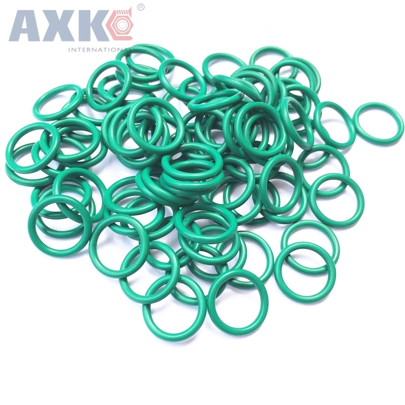 AXK 2pcs 3.5mm Thickness Green Viton O Ring Seals 175/180/185/190/195/200mm OD Fluorine Rubber FKM O-Rings Sealing Gasket Washer шины exquisite 165 175 185 195 205 70r14