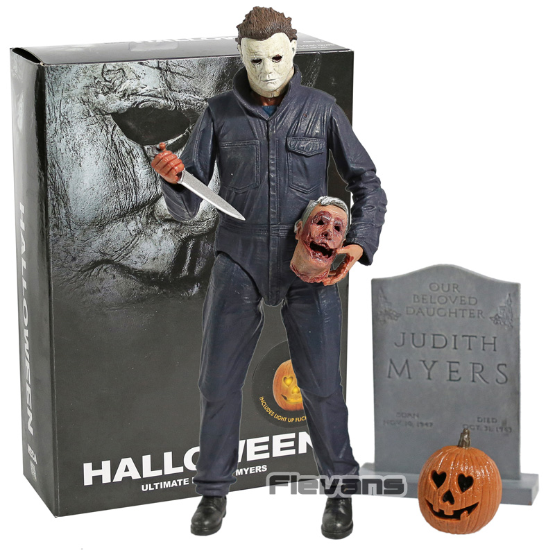 NECA 2018 Movie Halloween Ultimate Michael Myers with LED Light PVC Action Figure Collectible Model Toy denim