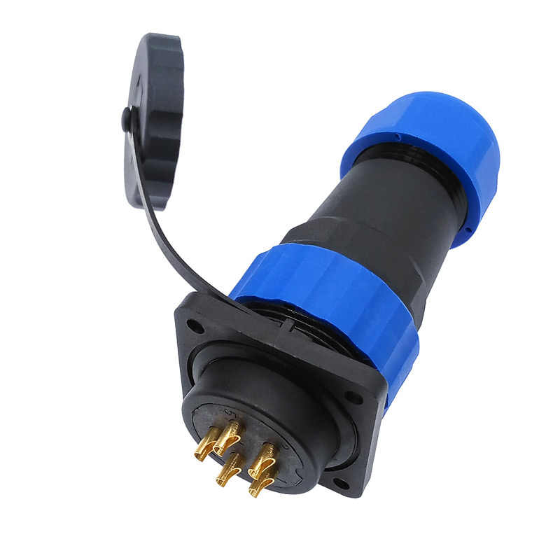 SP28 recto conector impermeable IP68 brida hembra 2 pin, 3/4/5/6/7/9 /10/12/14/16/19/22/24/26Pin