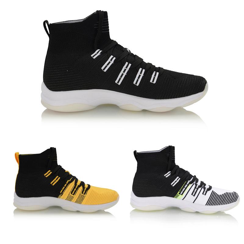 Li-Ning Men NO BOUNDARIES Cushion Training Shoes Mono Yarn Breathable High-Cut LiNing Sport Shoes Sneakers AFJP027 YXX064 34