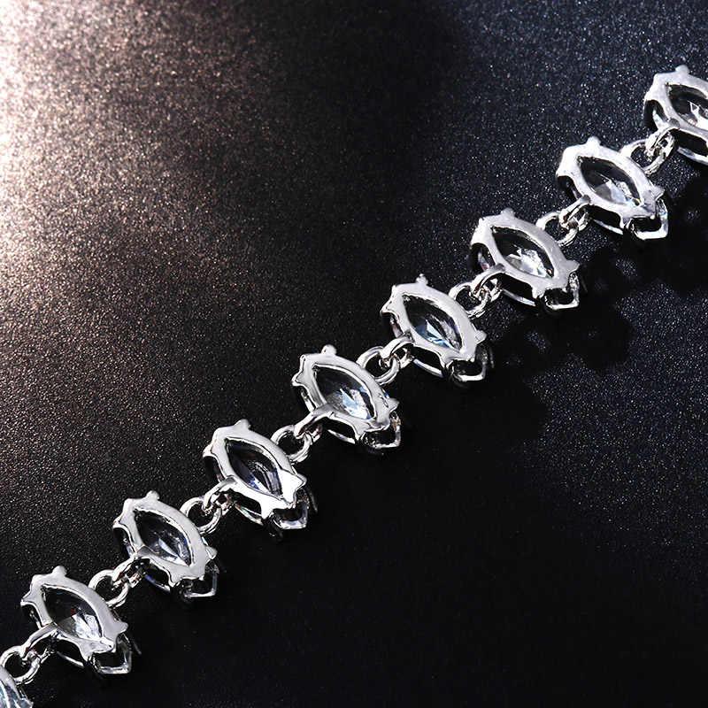 CARSINEL Trendy moda regulowany łańcuch bransoletki dla kobiet złoty kolor Cubic bransoletka z cyrkoniami biżuteria prezenty dla dziewczyn Patrulha