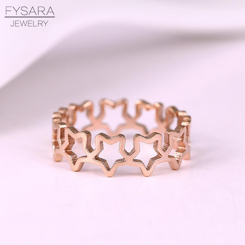 Модные украшения кольцо Лидер продаж стилей пентаграмма кольцо выдалбливают покрытие из розового золота кольцо Титан Сталь хвост женщина ...