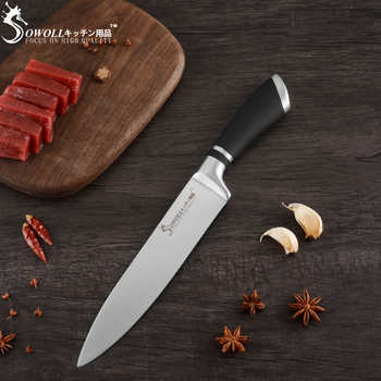 SOWOLL 9PCS Kitchen Knives Set Germany Chef Cooking Knife Super Sharp Blade Comfortable Handle Cutlery Cleaver Cutter Drop Ship