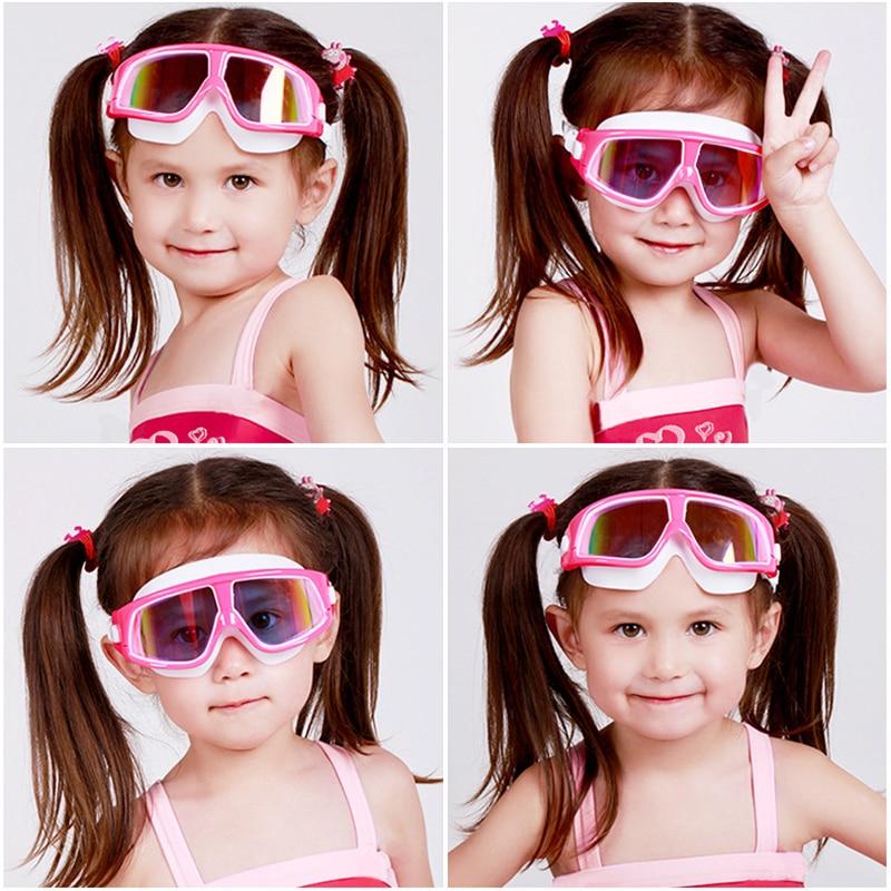 Óculos de Natação de Silicone Confortável Grande Quadro Ajustável Óculos de Natação para Crianças Anti-Fog UV Natação Óculos À Prova D' Água