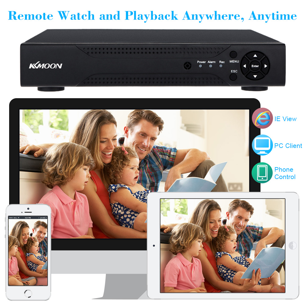 Image 3 - KKmoon 960H 4CH 720P CCTV AHD DVR Digital Video Recorder 4 Channel H.264 4CH DVR HVR NVR System P2P Home Security Video Recorder-in Surveillance Video Recorder from Security & Protection