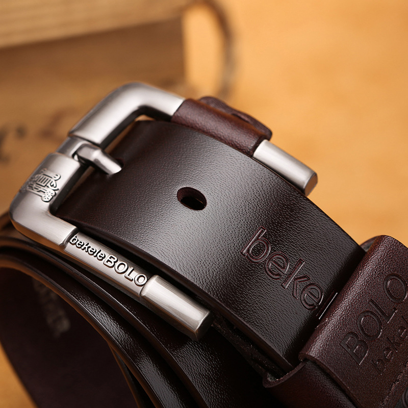 2019 Men Belt Cow Genuine Leather Luxury Strap Male Belts For Men New Fashion Classic Vintage Pin Buckle Strap For Male Jean