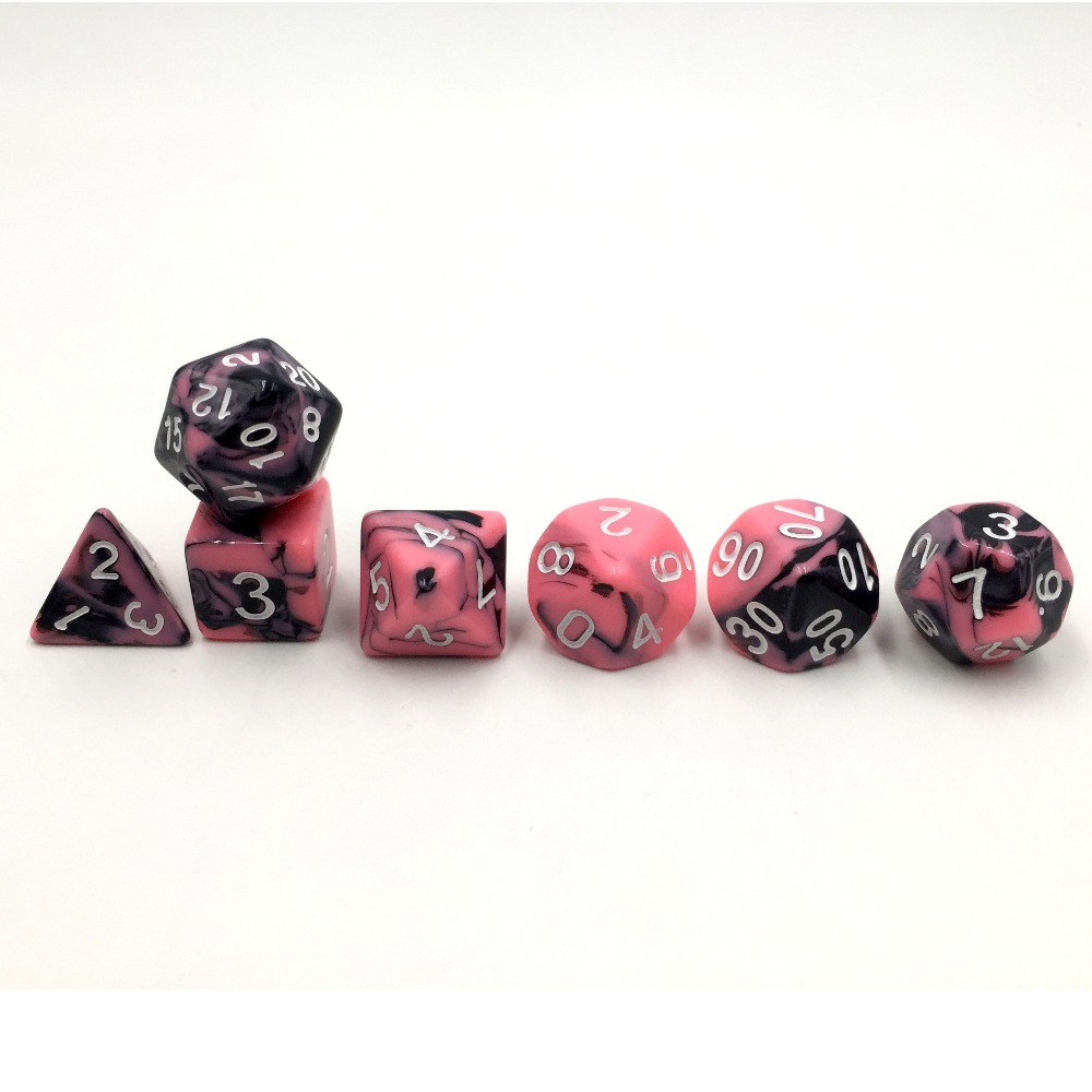 2 36mm Jumbo Large D6 Dice Pink Pearl with White Pips High Quality D /& D RPG