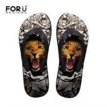 b94783f3c Luxury Summer Sandals Shoes Animal Leopard Men Flip Flops Personalized Beach  Slippers for Men Fashion Casual