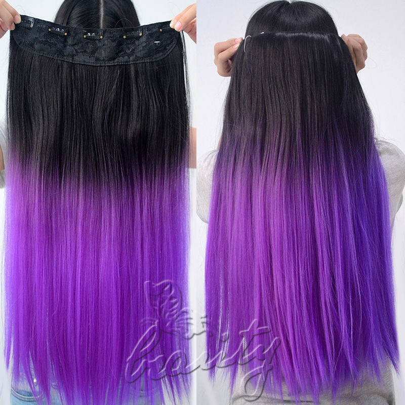 Clip in purple hair extensions choice image hair extension promotion 24 in long dip dye ombre hair weft clip in extension promotion 24 in long pmusecretfo Images