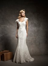 11-2 Sexy High Neckline Ruffle Lace With Beadeds Mermaid Wedding Dresses