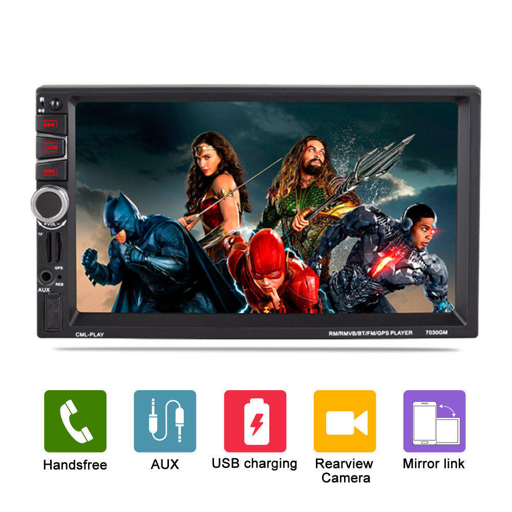 7 Navigator GPS Navigation Car Radio 2 Din Autoradio Bluetooth USB FM MP5 Player Touch Screen Rear Camera Audio 7030GM Free Map 7in touch screen 2 din gps navigator bluetooth car vehicle mp5 player car navigation fm radio autoradio with map remote control