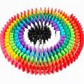 100 unids/lote Alta Calidad Bloques de Construcción de Juguete de la Inteligencia Temprana Auténtico Estándar De Madera Niños Domino Educación Bloques de Color