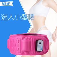 2016 New Slender Ab Shaper Belt Gymnic Toning Tens EMS Waist Belt X5 Times Vibration Massage Anti Cellilute Shake Shake Belt