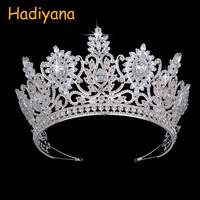 Hadiyana Wedding Bridal Copper Crown Vintage Pattern Styles High Quality Cubic Ziconia Tiara Queen Crowns Party Headband BC4593