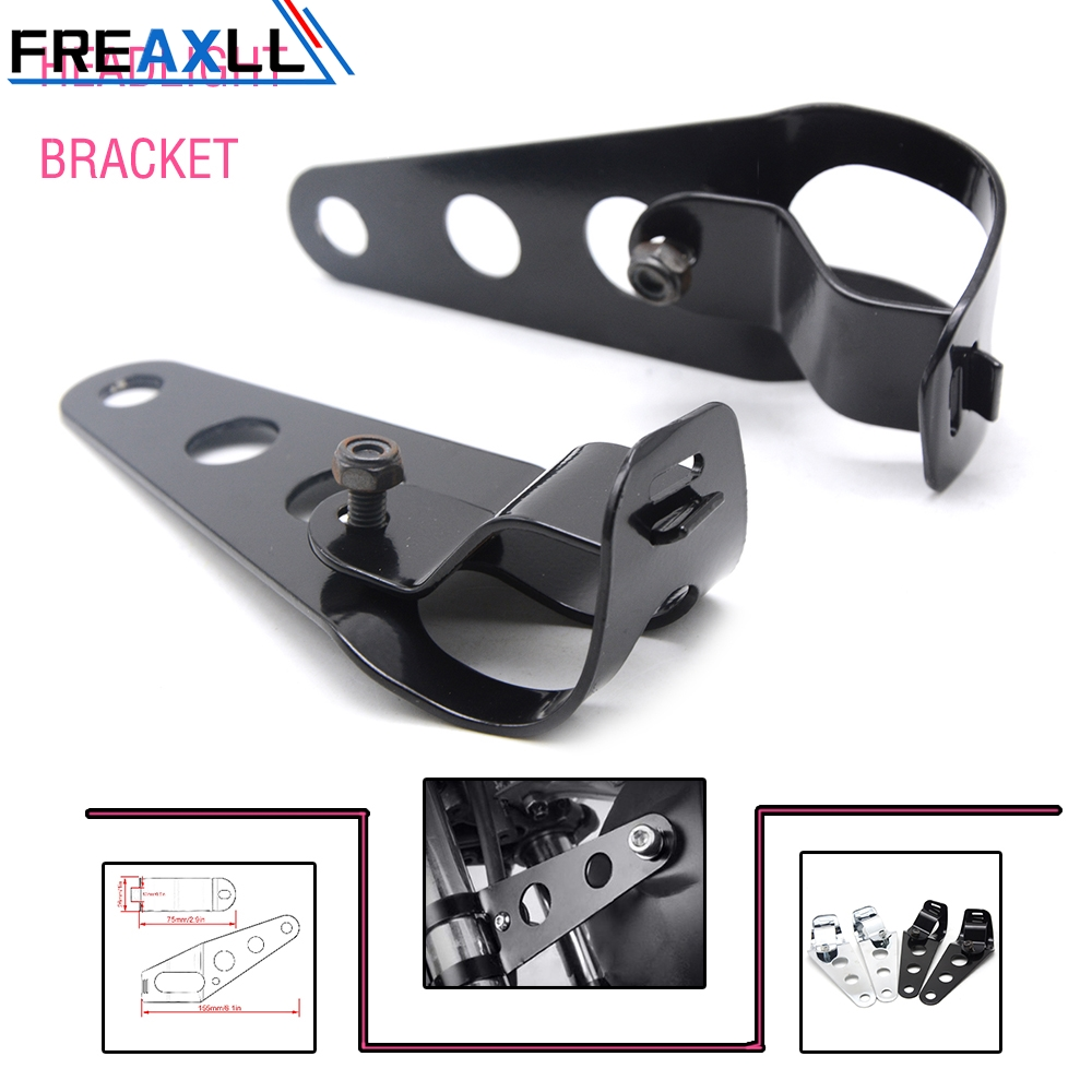 Universal 35mm-43mm Black Motorcycle Headlight Bracket Moto Accessories Headlamp Mount Fork Holder For Yamaha Cafe Racer image