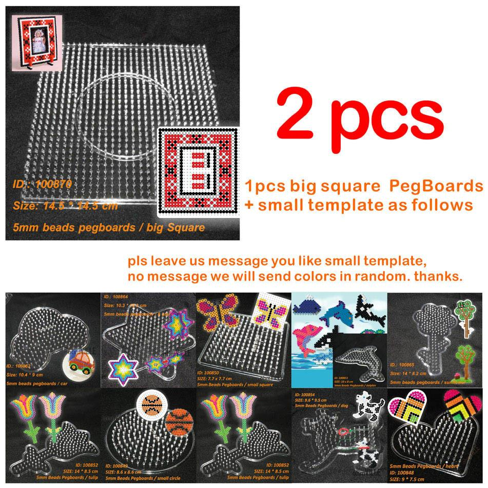 Free Shipping Promoting Health And Curing Diseases 2016 New Arrival Papelaria 100870 Pegboards For 5mm Perler Beads Hama Fused ~ Clear Linkable Large Peg Board Party Diy Decorations Home & Garden