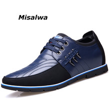 Misawla New Spring Elevator Shoes For Men Genuine Leather Brand Black Lace-up Young Hight Quality Increase Driving Hombre