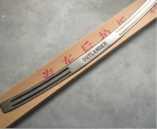 Aço inoxidável de alta qualidade choques Traseiro Protetor Sill Para Mitsubishi Outlander 2006 2007 2008 2009 2010 2011 2012