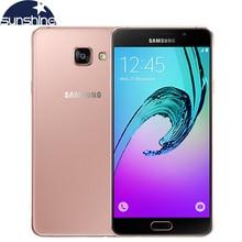 Оригинальный Samsung Galaxy A7 A7100 (2016) 4 Г LTE Мобильный телефон Окта основные 5.5 «13.0MP 1080 P 3 Г ОПЕРАТИВНОЙ ПАМЯТИ Отпечатков Пальцев Dual SIM Смартфон
