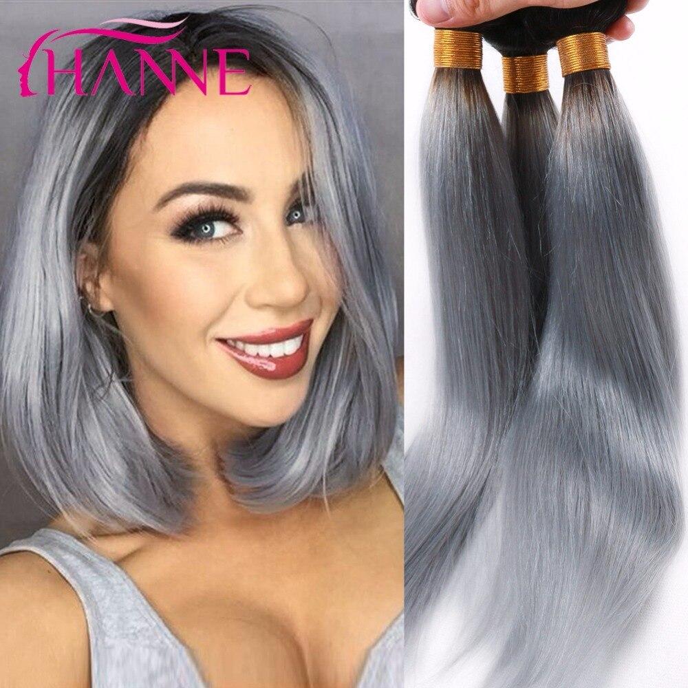 hanne argent gris ombre extensions de cheveux humains 34 pcs cendres gris couleur cheveux - Coloration Cheveux Gris Cendr