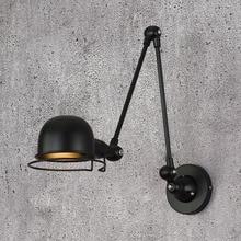Luz de pared e14 brazo mecánico Francia Jielde lámpara de pared que recuerda Retractable doble Vintage barra plegable sin interruptor lustre