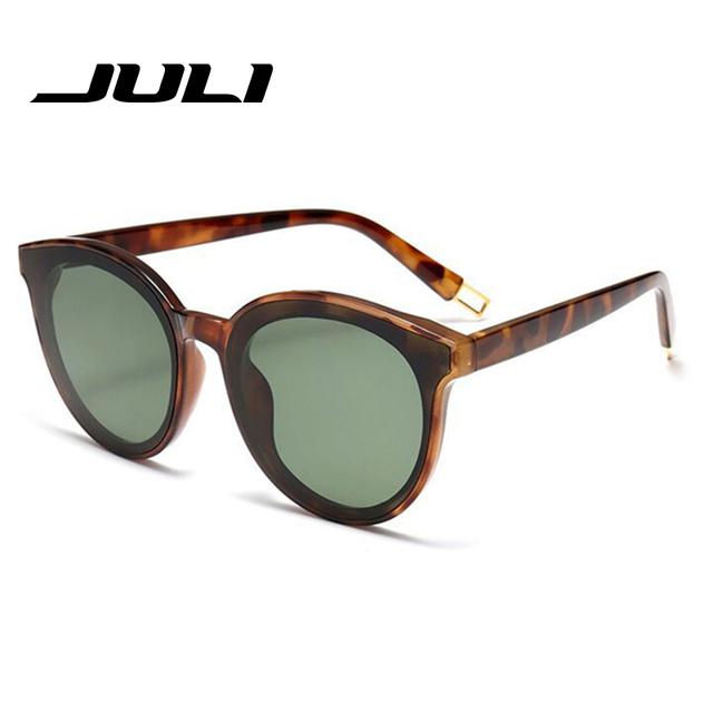 Juli marca de estilo do vintage dos homens óculos de lente plana óculos revestimento de espelho uv400 óculos cat olho quadro das mulheres óculos de sol glasse