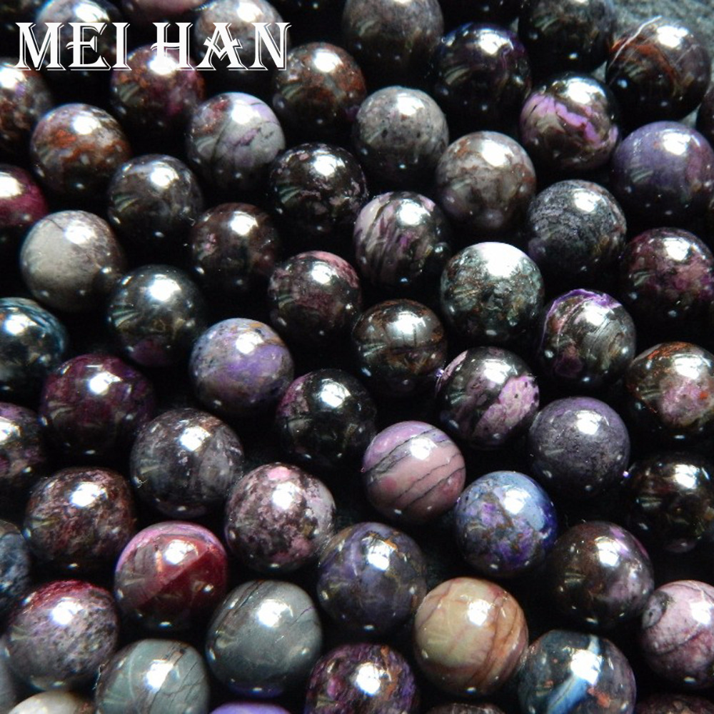 Meihan free Shipping 20 beads set 34g natural South Africa Sugilite 9 5 0 2mm smooth