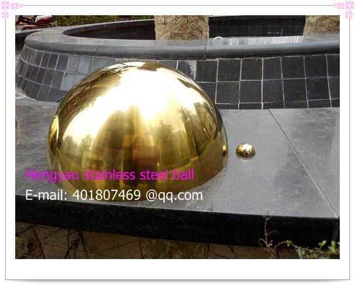 Průměr 300 mm, zlatá polokoule z nerezové oceli 201, dutá polokoule, ozdoba metanu, pokovování titanem
