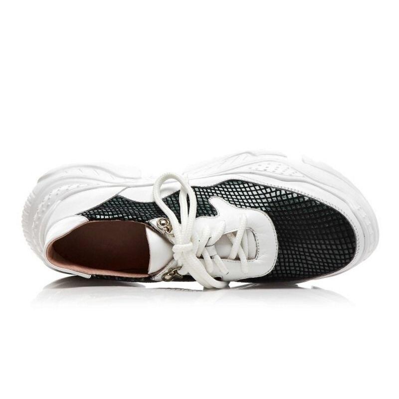 Mujer Genuino Amortiguación Cuñas Bling Las Tamaño De Taoffen Malla Zapatos Casuales Blanco Mujeres Al Zapatillas 39 Aire 34 Deporte Libre Cuero ngF46