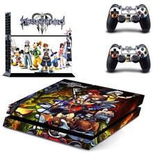 Game Kingdom Hearts PS4 Skin Sticker Decal Vinyl for Sony Playstation 4 Console and 2 Controllers PS4 Skin Sticker
