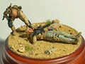 Scale Models 1/ 35 WWII The wounded soldiers not have base    figure Historical WWII Resin Model Free Shipping