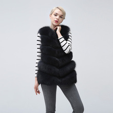 Natural Fox Fur Vest Real Fox Fur Waistcoat, Free Shipping,  Women's VestShort sleeveless vest недорого