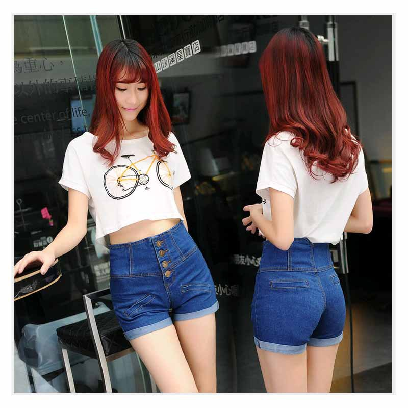 L 4XL Big Size High waist Shorts jeans Women Sexy Jean shorts ...