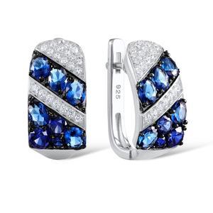 Image 2 - SANTUZZA Silver Earrings For Women 925 Sterling Silver Stud Earrings Silver 925 with Stones Cubic Zirconia brincos Jewelry