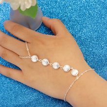 Fashion Gold Silver Color Chain Charm Bracelet Female Geometric Pendant Hand Accessories for Women L076