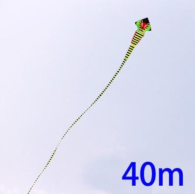 Livraison gratuite haute qualité 40 m cobra cerf-volant avec poignée ligne super serpent cerf-volant cerf-volant entier jouets volants parafoil chinois dragon cerf-volant - 2