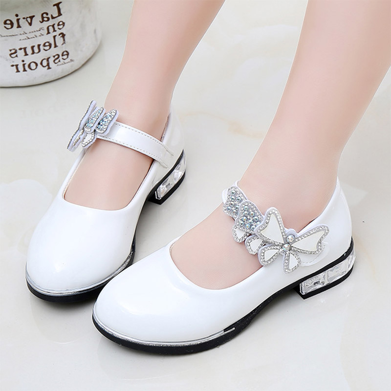 Girls Shoes White Wedding Shoes Bridal Princess Shoes