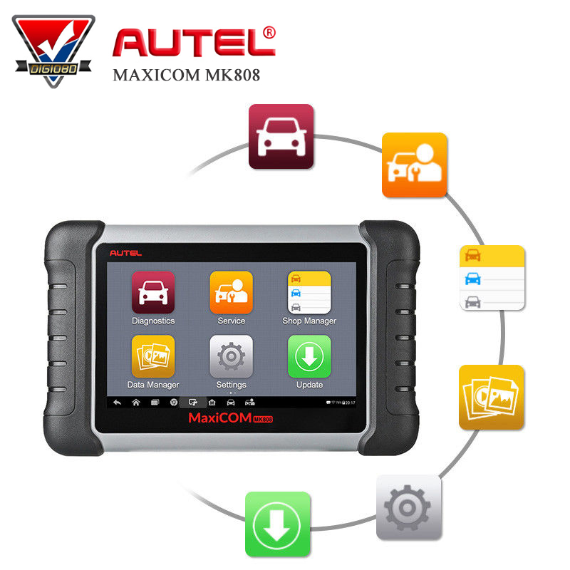Autel MaxiCOM MK808 OBD2 Diagnostic Scan Tool with All System and Service Functions including Oil Reset/EPB/BMS/SAS/DPF/TPM