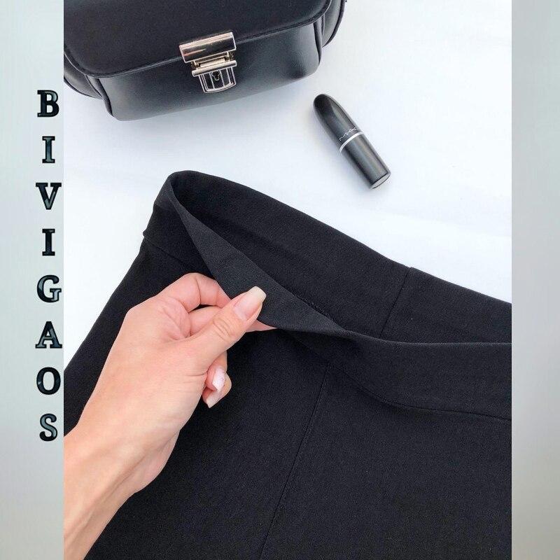 HTB1QqonXdjvK1RjSspiq6AEqXXa9 BIVIGAOS Spring Summer Fashion Womens Black Casual Elastic High Waist Leggings Trousers Pocket Pencil Pants Skinny Slim Female
